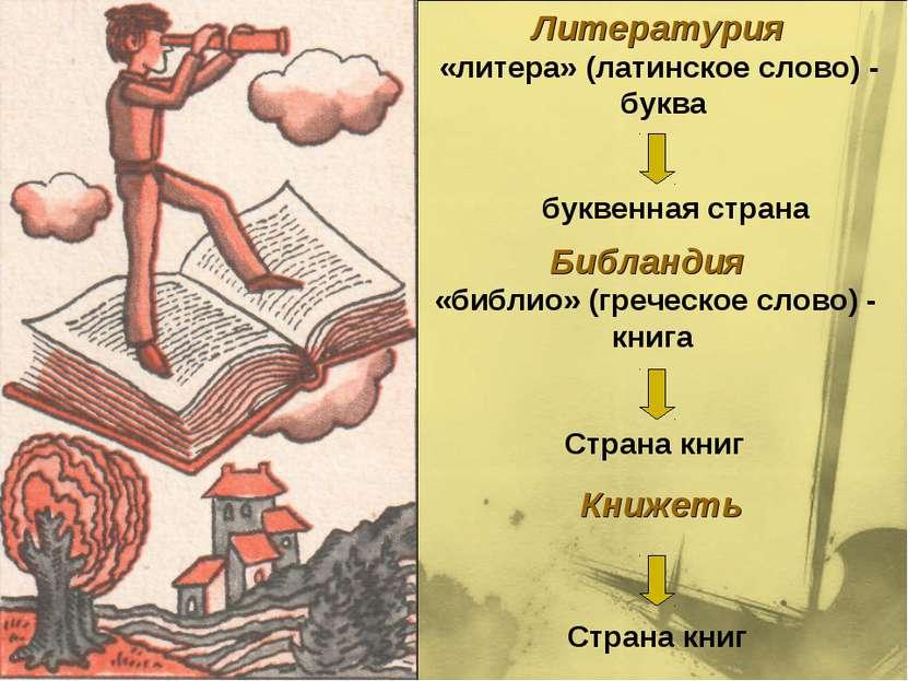 Литературия «литера» (латинское слово) - буква буквенная страна Библандия «би...