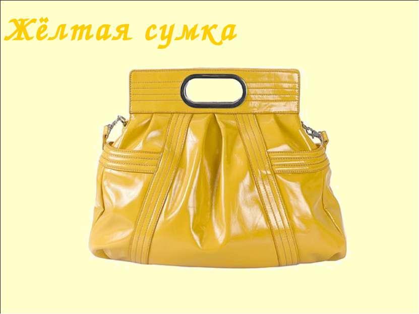 Жёлтая сумка Лазарева Лидия Андреевна, учитель начальных классов, Рижская осн...