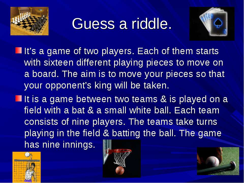 Guess a riddle. It's a game of two players. Each of them starts with sixteen ...