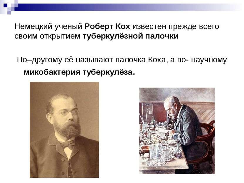 Немецкий ученый Роберт Кох известен прежде всего своим открытием туберкулёзно...