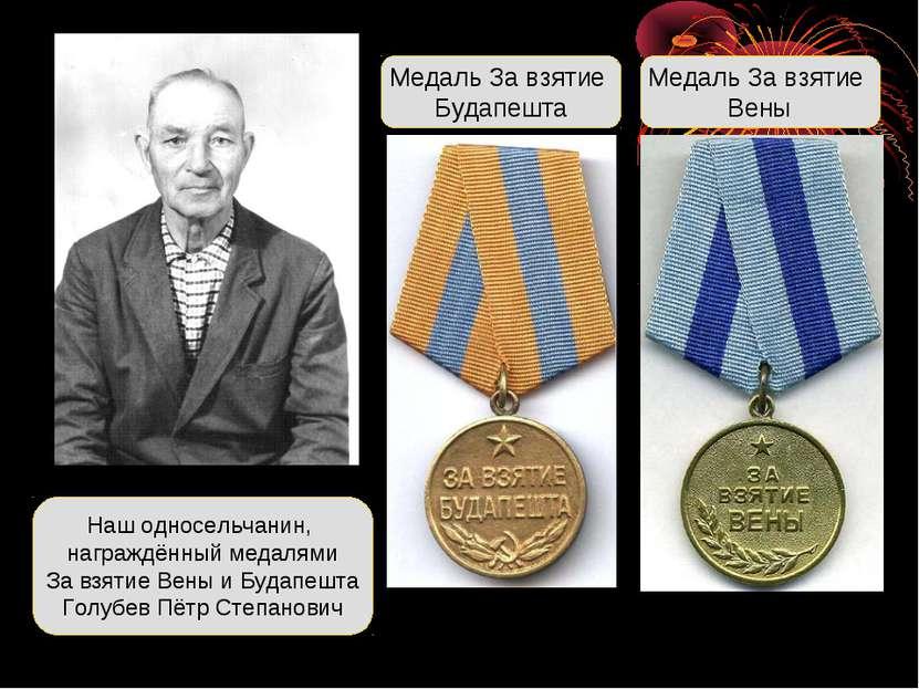 Наш односельчанин, награждённый медалями За взятие Вены и Будапешта Голубев П...