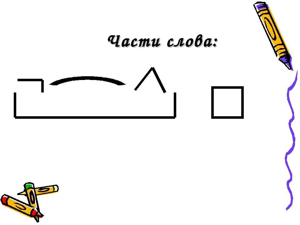 Картинка части слова для детей