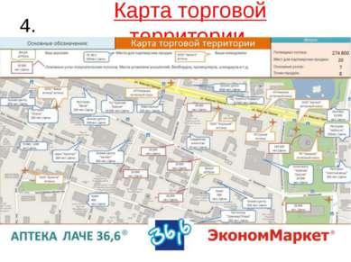 Карта торговой территории. 4.