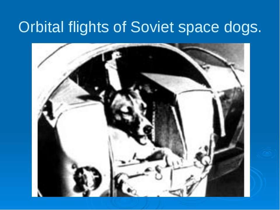 Orbital flights of Soviet space dogs.