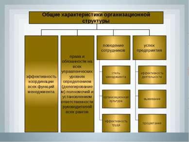 Общие характеристики организационной структуры права и обязанности на всех уп...