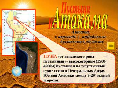 ПУНА (от испанского puna - пустынный) - высокогорные (3500-4600м) пустыни и п...