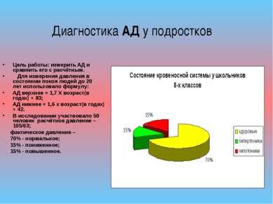 Цель работы: измерить АД и сравнить его с расчётным. Для измерения давления в...