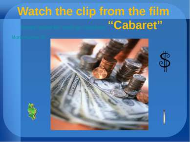 """Watch the clip from the film money makes the world go round.doc """"Cabaret"""" Mon..."""