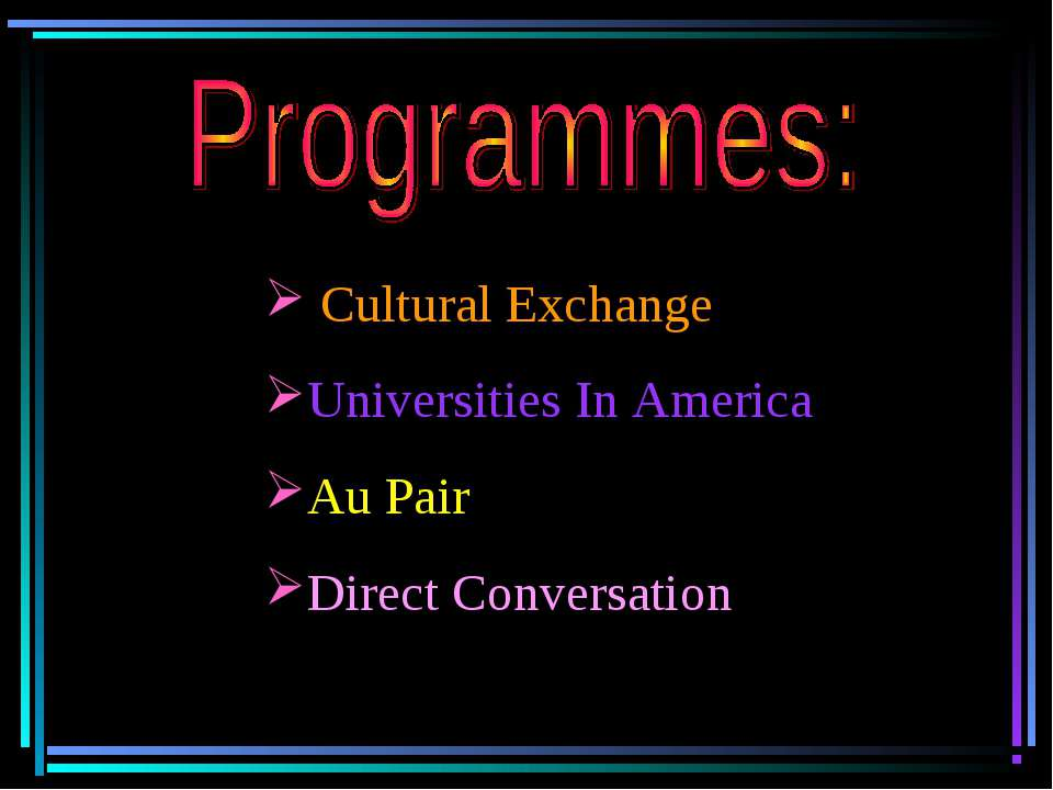Cultural Exchange Universities In America Au Pair Direct Conversation