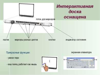 - ваш палец работает как мышь маркеры разных цветов экранная клавиатура ласти...