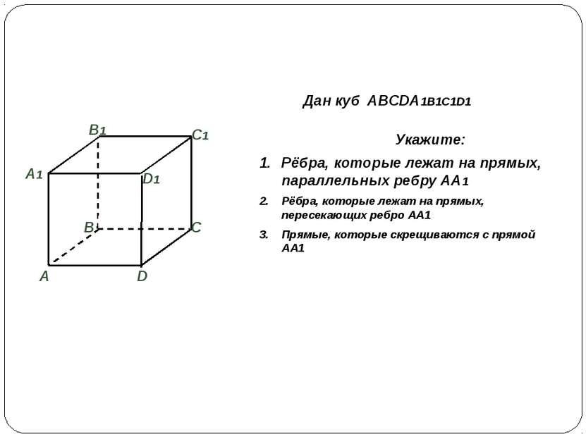 Взаимное расположение прямой и плоскости в пространстве Имеют общую точку Не ...