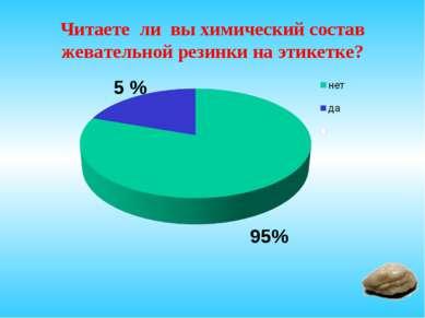 Читаете ли вы химический состав жевательной резинки на этикетке? 5 % 95%