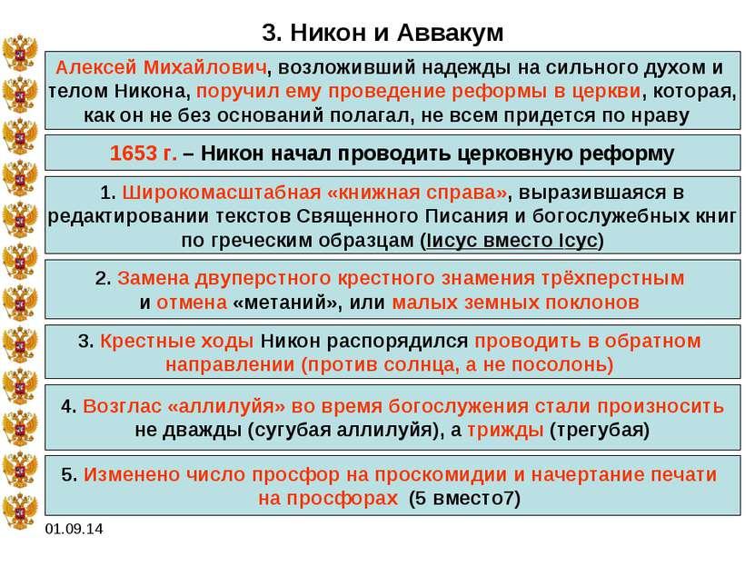 * 3. Никон и Аввакум Алексей Михайлович, возложивший надежды на сильного духо...