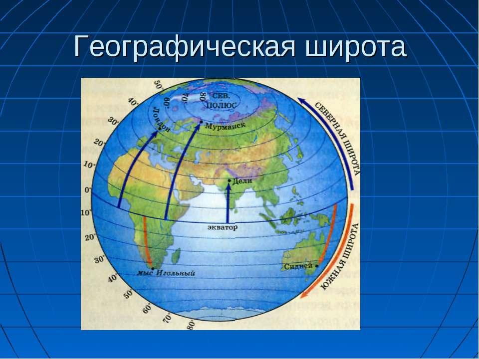 Географическая широта