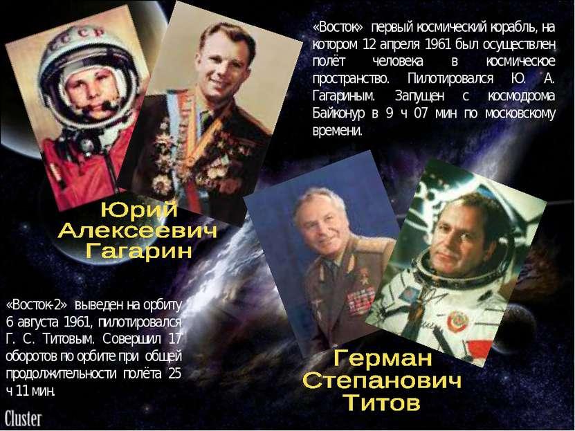 «Восток» первый космический корабль, на котором 12 апреля 1961 был осуществле...
