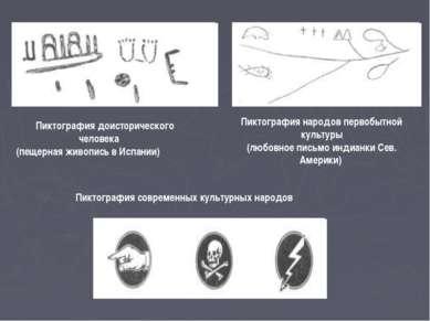 Пиктография доисторического человека (пещерная живопись в Испании) Пиктографи...