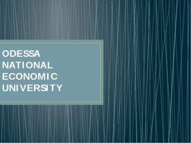 ODESSA NATIONAL ECONOMIC UNIVERSITY