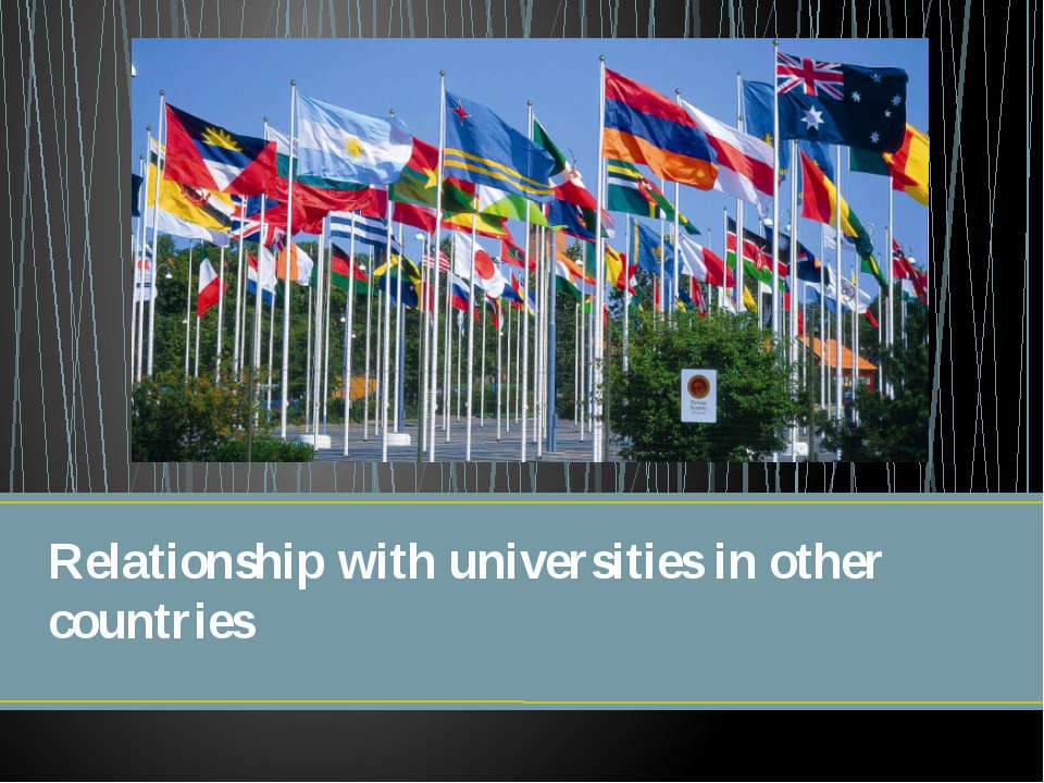Relationship with universities in other countries