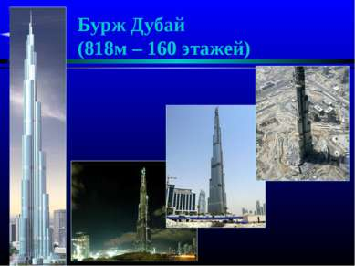 Бурж Дубай (818м – 160 этажей)
