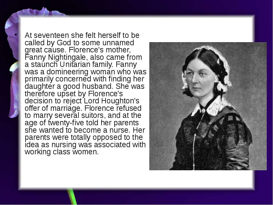 florence nightengale essay Florence nightingale and her contribution to nursing what was the short-term significance of florence nightingale in bringing about change plagiarism free papers.
