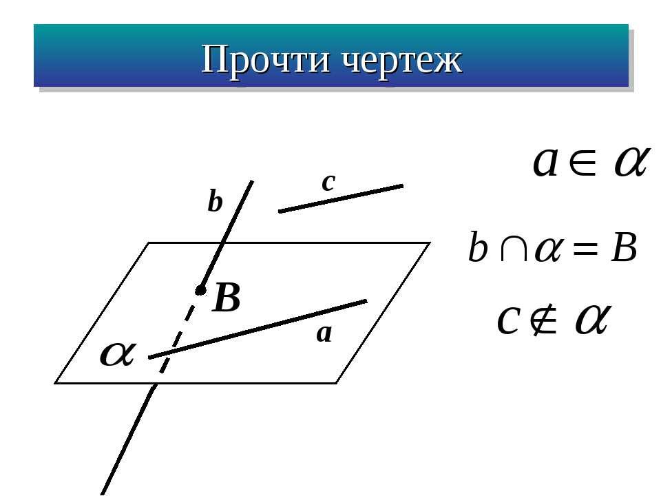 B c b a Прочти чертеж