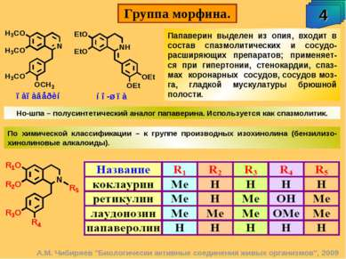 """Группа морфина. 4 А.М. Чибиряев """"Биологически активные соединения живых орган..."""