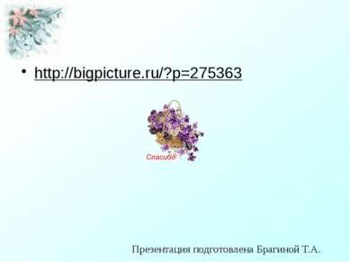 http://bigpicture.ru/?p=275363 Презентация подготовлена Брагиной Т.А.