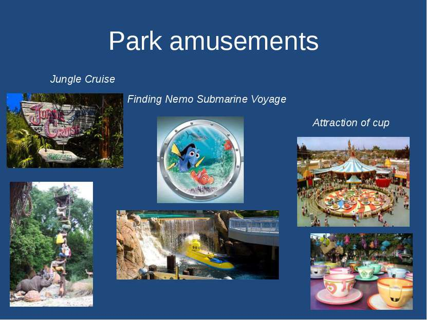 Park amusements Jungle Cruise Finding Nemo Submarine Voyage Attraction of cup