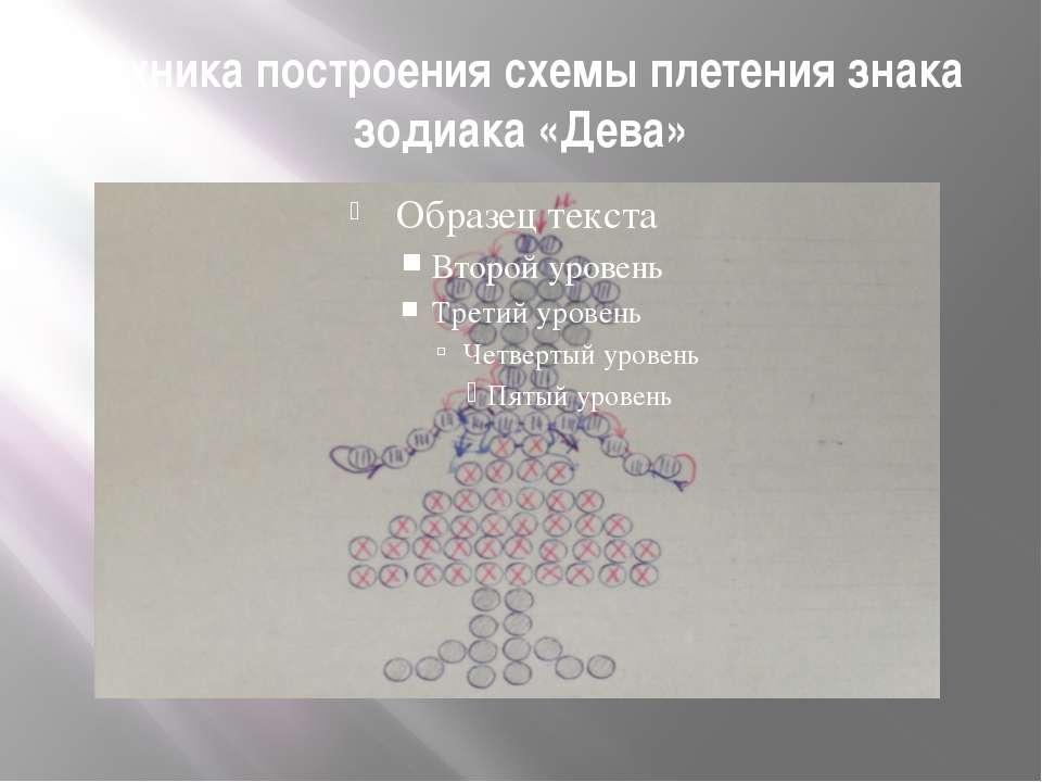 Техника построения схемы плетения знака зодиака «Дева»