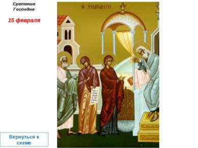 Сретение Господне 15 февраля Вернуться к схеме