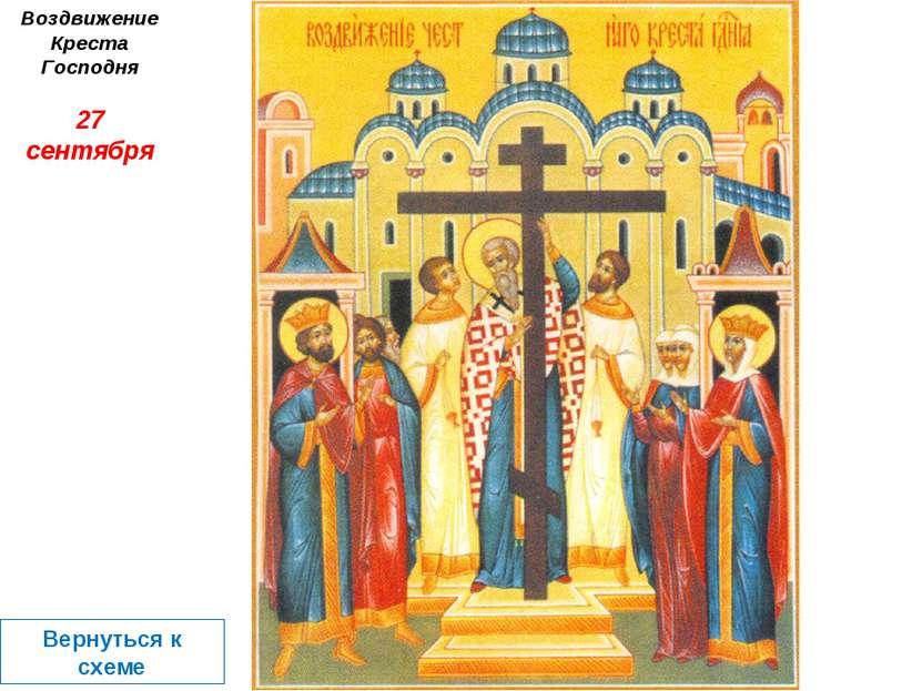 Воздвижение Креста Господня 27 сентября Вернуться к схеме