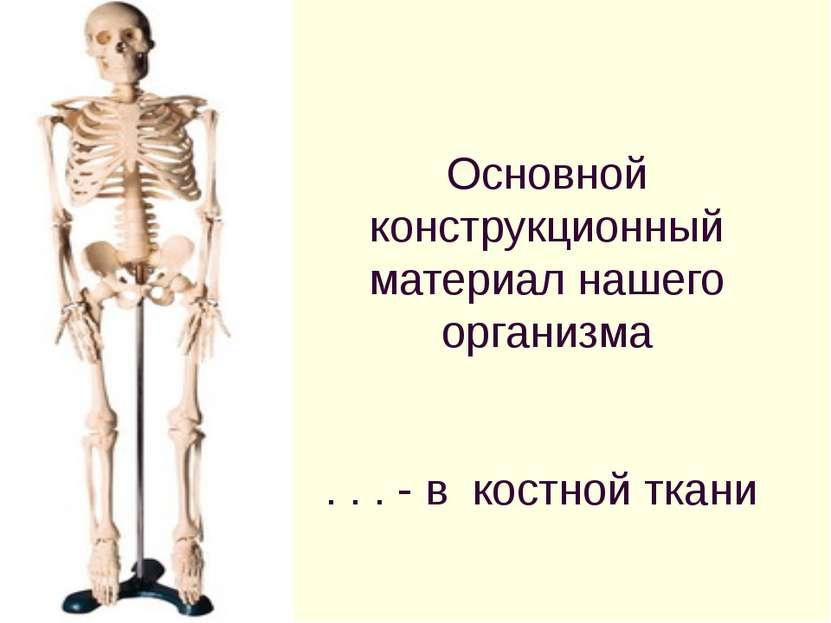 Основной конструкционный материал нашего организма . . . - в костной ткани