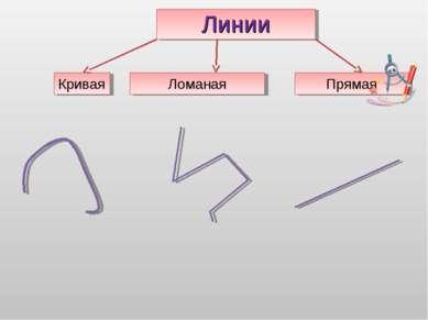 Линии Кривая Ломаная Прямая
