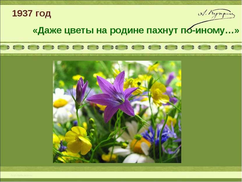 1937 год «Даже цветы на родине пахнут по-иному…»