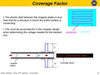 Coverage Factor The electric field between the chopper plates is less than th...