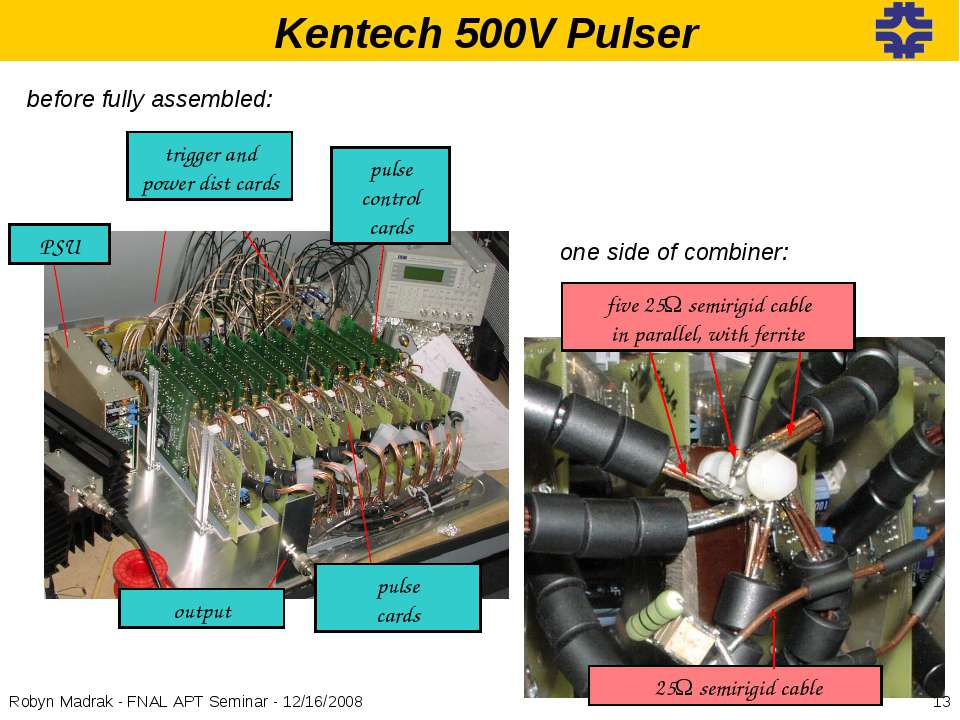 Kentech 500V Pulser pulse control cards PSU pulse cards trigger and power dis...