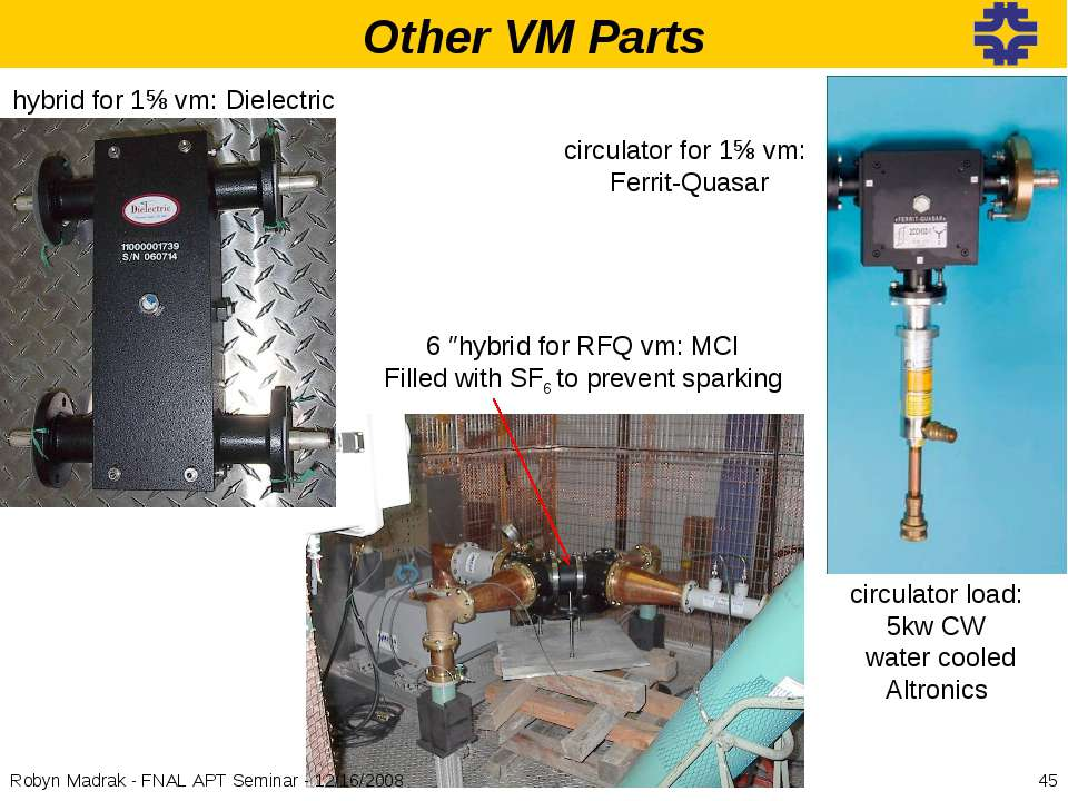 Other VM Parts hybrid for 1⅝ vm: Dielectric circulator for 1⅝ vm: Ferrit-Quas...