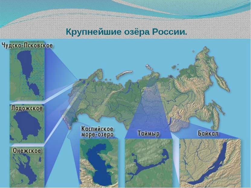 Крупнейшие озёра России.