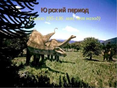 Юрский период (около 195-136 млн. лет назад)