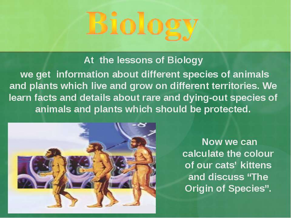 "Now we can calculate the colour of our cats' kittens and discuss ""The Origin ..."