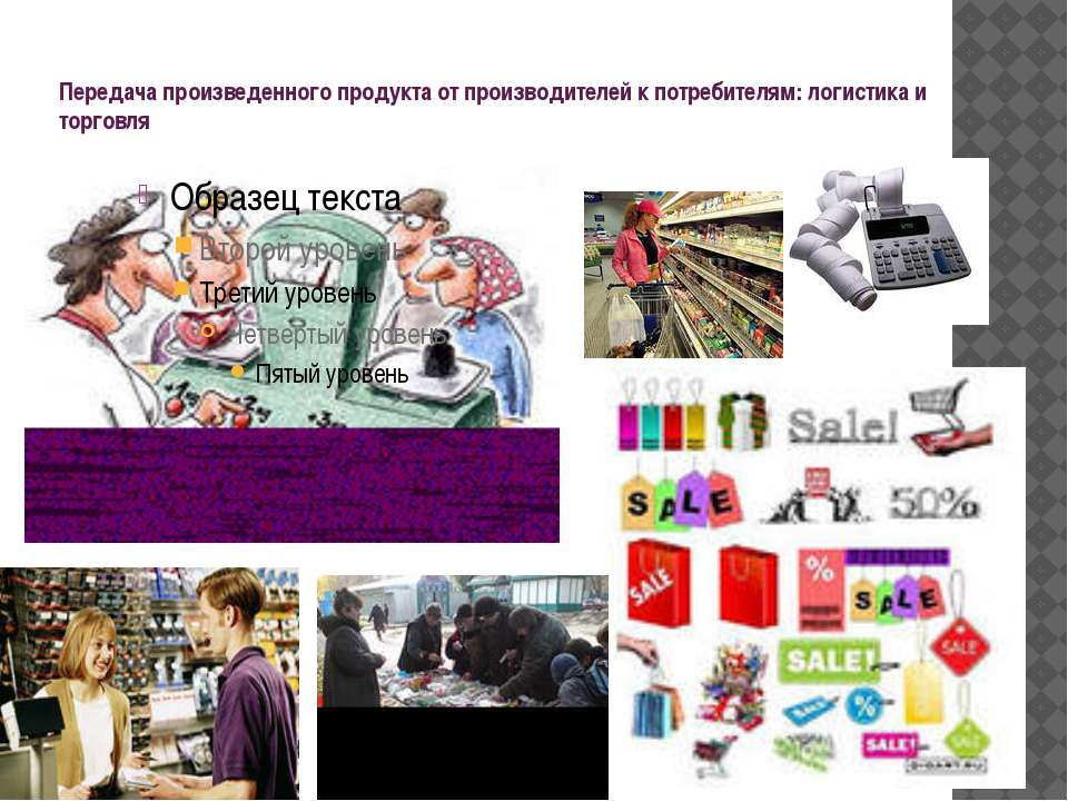 Передача произведенного продукта от производителей к потребителям: логистика ...