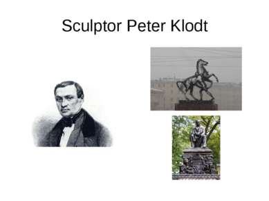 Sculptor Peter Klodt