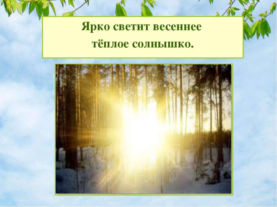 Что происходит в природе весной? Ярко светит весеннее тёплое солнышко.