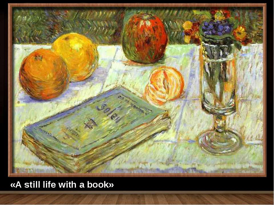 «A still life with a book»