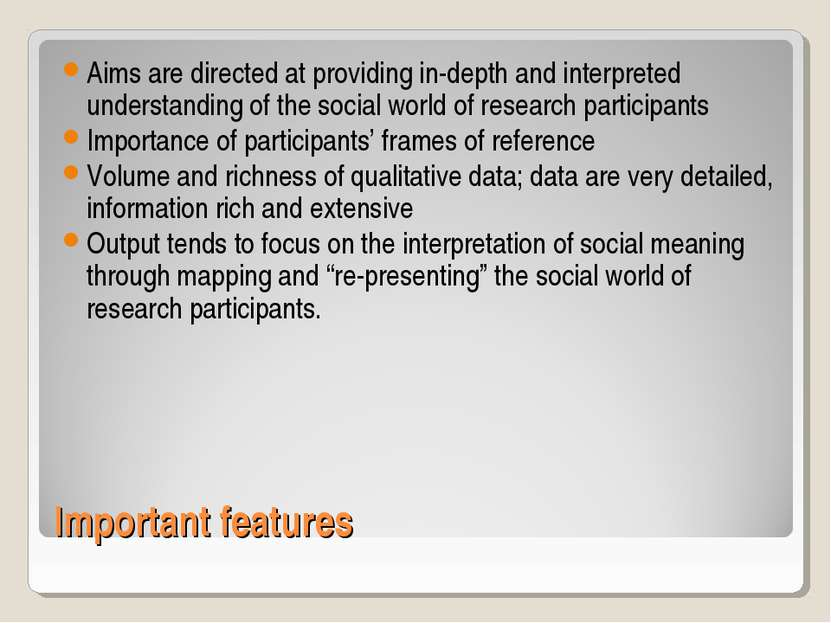 Important features Aims are directed at providing in-depth and interpreted un...