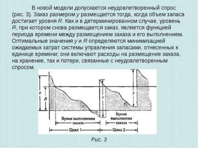 В новой модели допускается неудовлетворенный спрос (рис. 3). Заказ размером у...