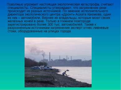 Поволжью угрожает настоящая экологическая катастрофа, считают специалисты. Сп...