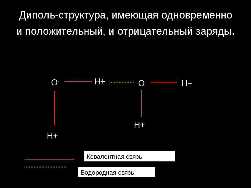 Диполь-структура, имеющая одновременно и положительный, и отрицательный заряд...