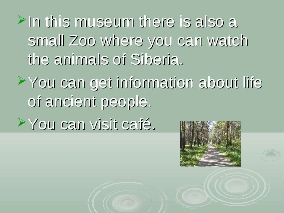 In this museum there is also a small Zoo where you can watch the animals of S...