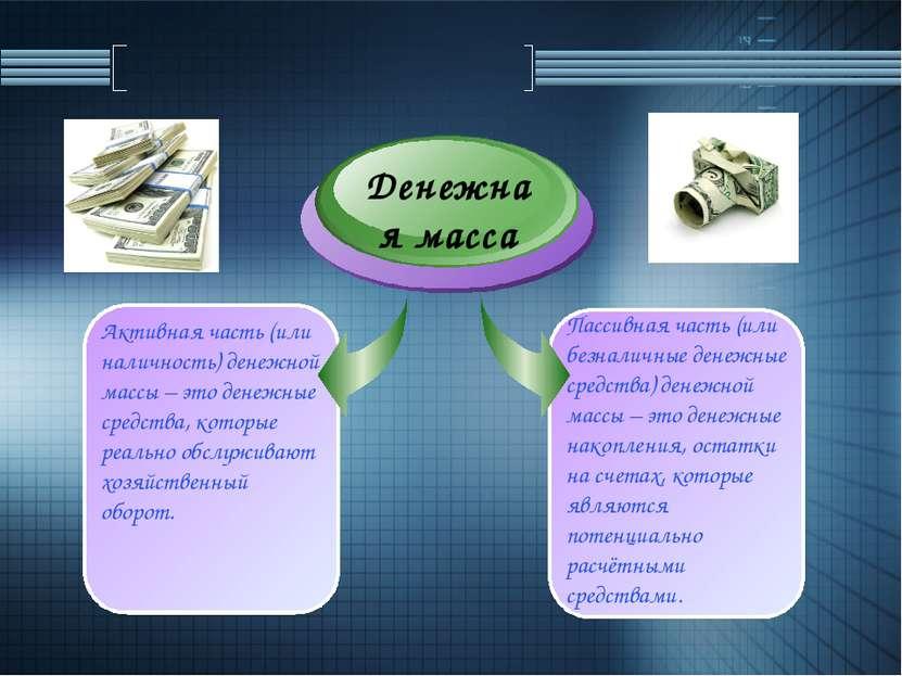 Активная рублевая денежная масса включает в себя